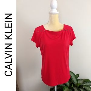 Calvin Klein Shoulder Snap Work Blouse